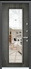 Дверь Torex Super Omega-10 Черный шелк RP4 Дуб пепельный RS10 с зеркалом